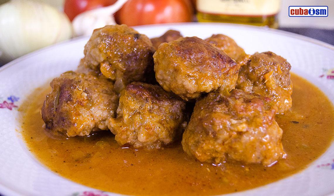 Albondigas, Cuban Meatballs